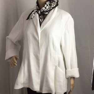 Eileen Fisher Buttonless Linen Blazer